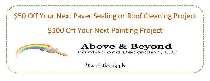$100 off paver sealing and Roof Cleaning