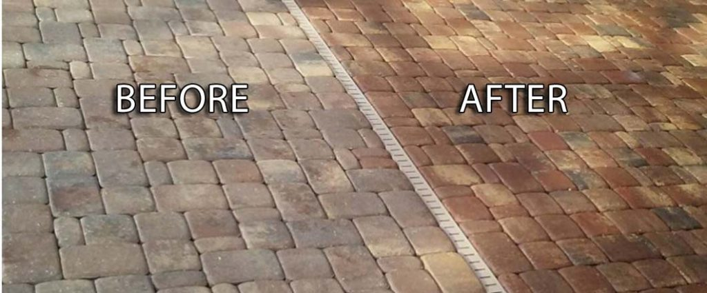 pavers after cleaning